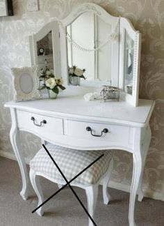 white dressing table with mirror - Google Search