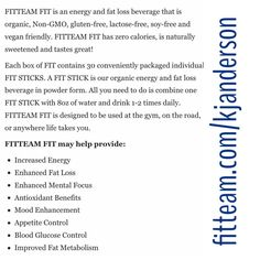 Do you want more information?  Have any questions?  Email me! Let's chat! Kjschwab0423@gmail.com www.fitteam.com/Kjanderson