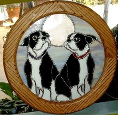 Stained Glass Boston Terriers  Betsey by glassydame (Margo), via Flickr