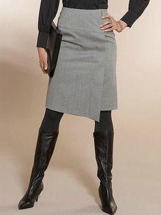 Как быстро сшить юбку без выкройки для начинающих Skirts With Boots, Work Skirts, A Line Skirts, Best Casual Outfits, Cool Outfits, Diy Fashion, Fashion Outfits, Womens Fashion, Mode Pop