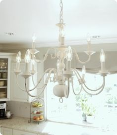 Spray painting a chandelier navy pinterest spray painting brassy to classy my free chandelier good tutorial links to rewiring painting a brass chandelier aloadofball Gallery