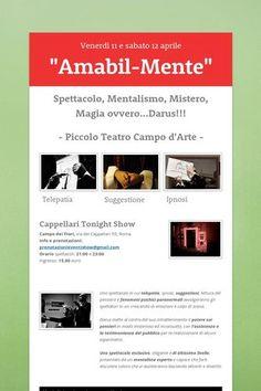 """http://www.darus.it """"Amabil-Mente"""" lo spettacolo di mentalismo nelle date di Roma: 11 e 12 aprile 2013 alle 21 ed alle 23. Prenotate a prenotazionieventishow@gmail.com"""