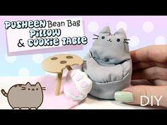 Cute Miniature Pusheen Bean Bag & Cookie Table Tutorial // DIY Dolls/Dollhouse - YouTube
