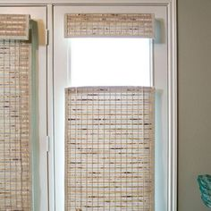 blindscom brand premier woven wood shades in top down bottom up these