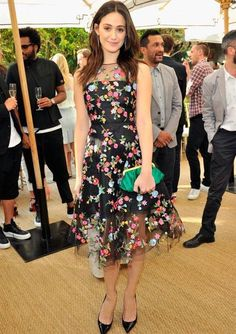 Emmy Rossum In Oscar de la Renta – CFDA/Vogue Fashion Fund Event