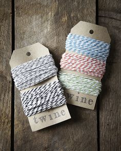 Bakers Twine in Monochrome and Juicy Brights