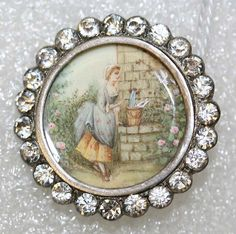 Button - Date: ca. 1775 - Culture: French - Medium: ivory, metal, strass - Dimensions: [no dimension available] - Credit Line: From the Hanna S. Kohn Collection, 1951