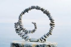 how cool is this pebble sculpture?
