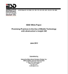 Discover how educators are combining mobile technology with Insight 360 in this just-released White Paper. http://www.einstruction.com/files/default/files/downloads/IESD-Insight_360_Mobile_Technology_White_Paper.pdf