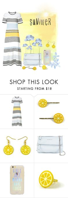 """""""Baby blue & Yellow"""" by savousepate ❤ liked on Polyvore featuring Novis, Givenchy and Sonix"""