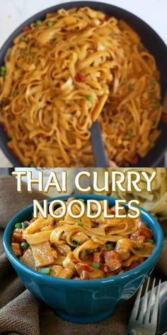 Thai Curry Noodles has a curry based sauce highlighted with coconut milk, bamboo shoots and peas. An authentic taste of Asia that is flavorful and very easy to prepare.