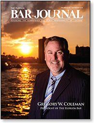 July/August 2014 Florida Bar Journal featuring 2014-15 Florida Bar President Gregory W. Coleman.