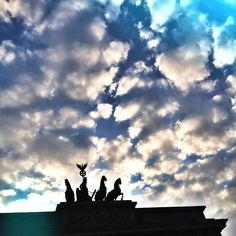 Sunset at Brandenburger Tor.