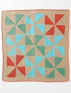 Yarnspirations.com - Caron Country Quilt Baby Blanket  | Yarnspirations