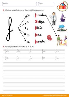 Spanish Teaching Resources, School Resources, French Language Learning, Phonics, Teaching Kids, Elementary Schools, Homeschool, Letters, Education