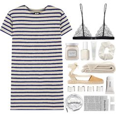 Stripes by vrosep on Polyvore featuring polyvore fashion style NLST Maison Close Barneys New York Maison Margiela Topshop Fresh Laura Mercier Essie Forever New Urbanears