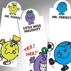 "Item N.7, ""Mr. Men and Little Miss Magnetic Bookmarks"", is a great fun for children and nostalgic adults alike! These popular characters are universally recognised and EVERYONE has a favourite ;)"