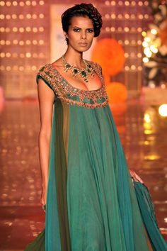 Manish Malhotra #emerald #green  the colour and the design.  Beautiful!