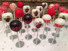 Miami heat cake pops. Sweetly Done by Candi
