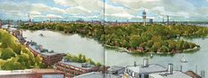 Stockholm panorama from Nacka Strand