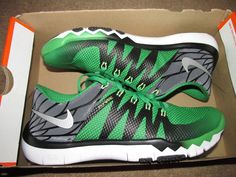 Nike Oregon Ducks Free Trainer 5.0 V6 AMP Mens Shoes 8.5 723939 307 Kelly Green #Nike #RunningCrossTraining