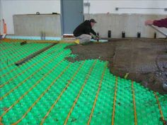 Checking the plumbing layout in a concrete slab before it for Insulating basement floor before pouring