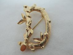 SARAH COVENTRY Letter 'D' Pin Item 282 by KittyCatShop on Etsy