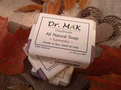 Dr MAK All Natural Lavender Soap Handmade from olive oil, coconut oil, castor oil, and lavender essential oil. A unique oil blend makes it suitable for all skin types. Its rich creamy lather leaves your skin well nourished and soft all day long.