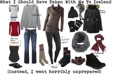 """""""What I Should Have Taken To Iceland"""" by susanmcu on Polyvore"""