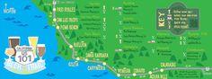 The 101 beer trail from Calabasas to Paso Robles. Kelleys Island Ohio, Cross Country Trip, Beer Art, Road Trip Destinations, Pismo Beach, Brew Pub, California Dreamin', Roadtrip, Legoland