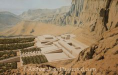 Queen Hatshepsut's mortuary temple at Thebes, capital of ancient Egypt, 1420 BC