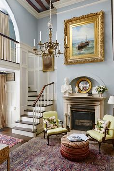 Staircase - Bijou interiors with a sense of spaciousness that belies exterior appearance - real homes on HOUSE by House & Garden.