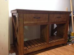 FIRST PROJECT! Rustic X Kitchen Island | Do It Yourself Home Projects from Ana White