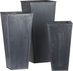 For Mothers day: Fill these Zinc Tall Square Planters with flowers and put them outside the door.