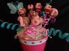 Sweet 16 Cake Pop Bouquet