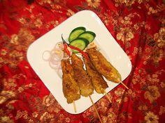Cuisine of Karachi: Satay (Indonesian National Dish) / Sate چکن ساتے