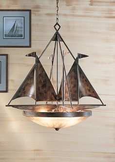 Sailboats Chandelier