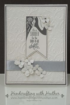 Girls' Night Out Bridal Shower Invitation - Stampin' Up!  Heather Van Looy, Independent Stampin' Up! Demonstrator in Johns Creek, GA.  Follow my blog for more great projects (www.handcraftingwithheather.com).