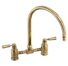 Abode Hargrave Swan Neck Bridge Mixer Tap A modern bridge mixer with retro styling available in Chrome, Brushed Nickel and Antique Bronze. Kitchen Taps, Mixer Taps, Shower Heads, Antique Brass, Swan, Bridge, Home Appliances, Traditional, Antiques