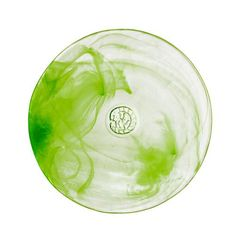 kosta boda mine small plate - lime