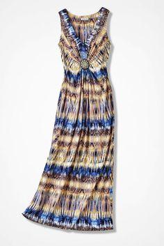 028a07aaa Beaded Treasure Abstract Maxi Dress