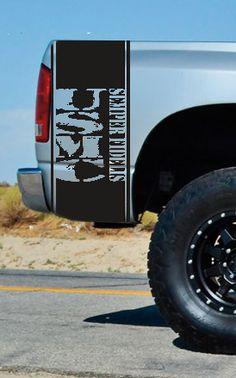 Ram F150 Silverado Tundra USMC Globe Blackout Truck Hood Decal Military