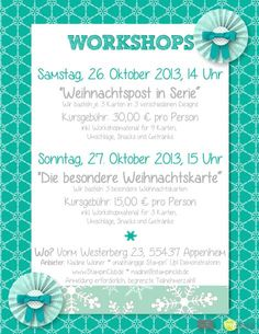 Workshop Flyer 2013-10 Aussgefüllt Stampin' Up! MDS