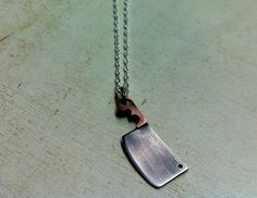 The Butcher. WOMEN'S Tiny Meat Cleaver. Mixed Metal Small by Arrok