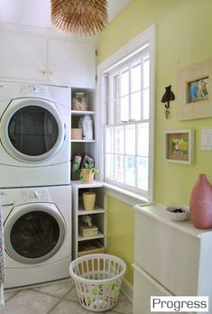 Laundry room wondering about stacking my appliances for more room...