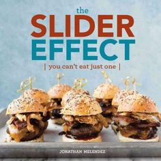 Way better than a cupcake, the slider effect is that you can't eat just one of these fun, savory, handheld treats. Indulge in the awesome, delicious world of sliders and mini sandwiches through 75 omn