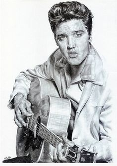 elvis playing guitar | how to draw elvis playing guitar image search results