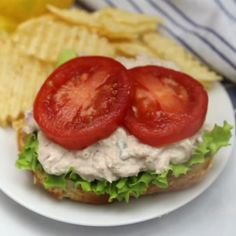 Tuna Salad Sandwich Seriously delicious recipe, you will never want another boring tuna sandwich after trying this! Tuna Fish Sandwich Recipe, Tuna Fish Recipes, Healthy Sandwich Recipes, Gourmet Sandwiches, Cold Sandwiches, Dinner Sandwiches, Healthy Sandwiches, Salad Sandwich, Tuna Salad