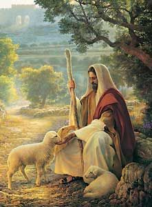 Jesus Christ - the Shepherd, Greg Olsen Images Du Christ, Pictures Of Jesus Christ, Religious Pictures, Lds Pictures, Religious Art, Lord Is My Shepherd, The Good Shepherd, Jesus Shepherd, Greg Olsen Art