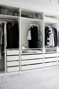 Create More Space in Your Homes With Ikea Pax Closet Ikea Pax Closet, Bedroom Closet Doors, Ikea Pax Wardrobe, Bedroom Closet Storage, Closet Drawers, Bedroom Drawers, Bedroom Closet Design, Bedroom Wardrobe, Wardrobe Closet